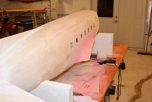 Wing flarings starboard side.