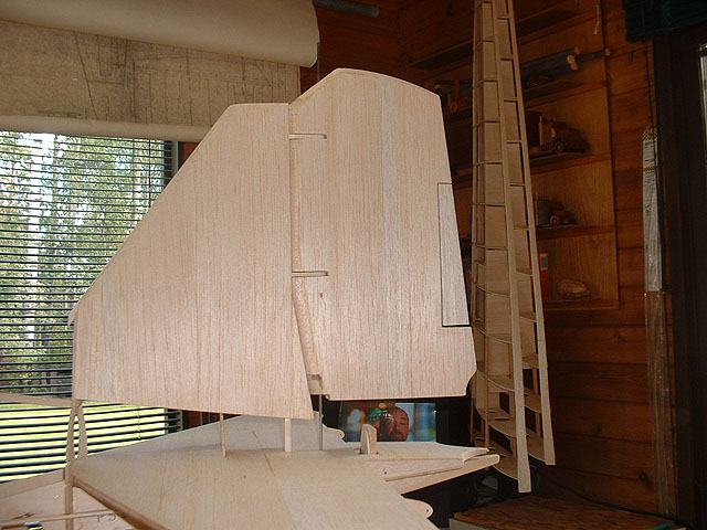 Rudder done c/w trim tab.